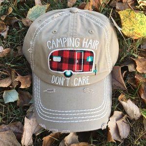 Buffalo Plaid Happy Camper Hat